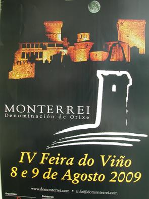 Cartel de la IV Feria del Vino de Monterrei